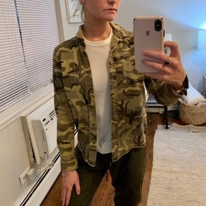 Camo Print Denim Jacket
